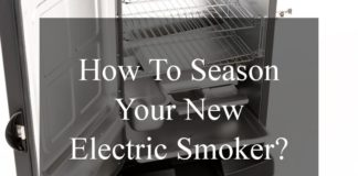 Seasoning The Electric Smoker For The First Time